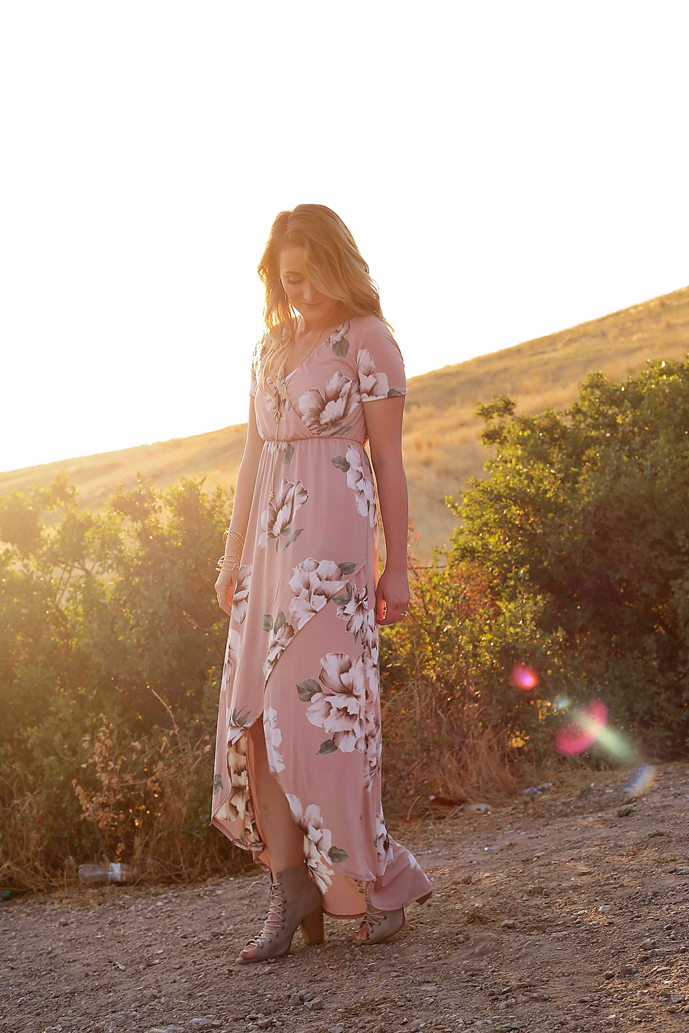 blushing bloom dress
